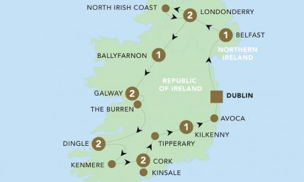 Map of The Emerald Isle 2019 | BRT
